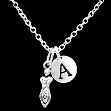 Choose Initial Spiral Goddess Gift For Her Wife Daughter Mom Necklace