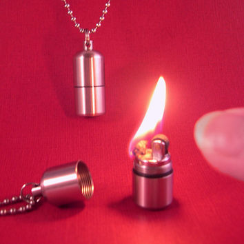 Teeny Lighter Necklace Smallest YOU Will Ever Find by YOUgNeek