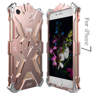 Thor  Heavy Duty Armor Metal Aluminum Mobile Phone Bag Cases For Apple iPhone 7 Cover For iPhone 5 5S SE 6 6S 7 PLUS