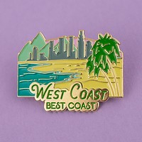 West Coast Enamel Pin