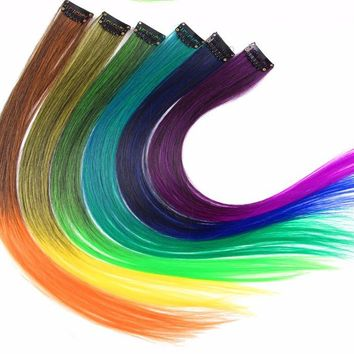 OMBRE MERMAID HAIR SINGLE CLIP-IN SILKY SOFT BRIGHTLY COLORED HAIR EXTENSION