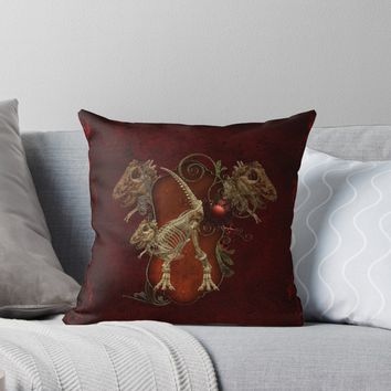 'Awesome T-Rex skeleton' Throw Pillow by nicky2342