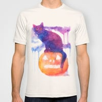 Halloween cat T-shirt by Aurora Wienhold