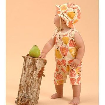 Red Pear Organic Summer Tank Romper
