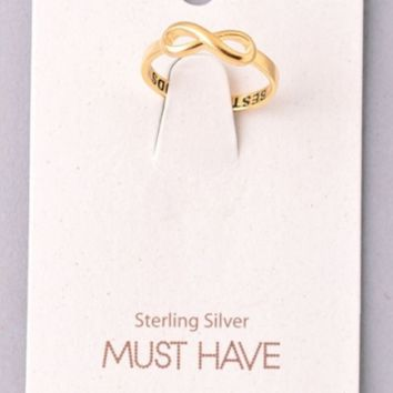 Infinity Best Friend Ring - Gold