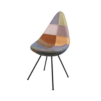 Drop Chair - Upholstered - Patchwork B - Reproduction | GFURN