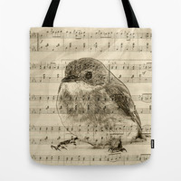 Songs of Birds Tote Bag by Nirvana.K