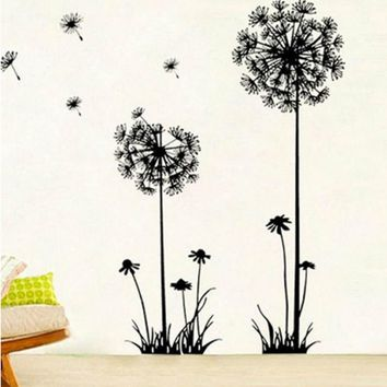 HOT! Dandelion Flower Home Decal Wall Stickers Vinyl Living Room Sofa Background Decor Girls Women Room Window DIY Art