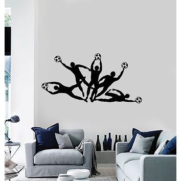 Vinyl Wall Decal Soccer Player Ball Team Game Sports Decor Stickers Mural (g1547)