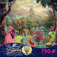 Thomas Kinkade Sleeping Beauty Jigsaw Puzzle in Ceaco's Disney Collection