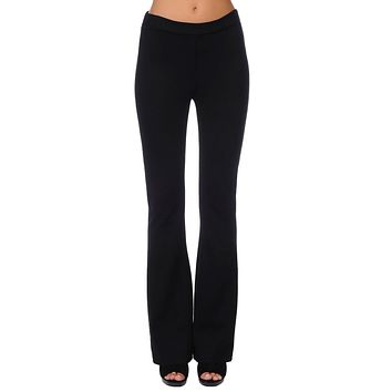Pull On Ponte Flare Pant