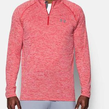 Under Armour Men's UA Tech 1/4 Zip Pullover - Heather Red