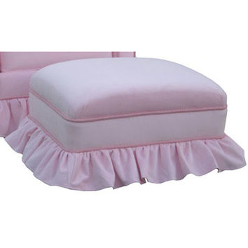 Angel Song 221021153 Classic Velvet Pink Adult Club Gliding Ottoman