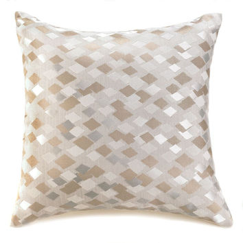 Contemporary Checkered Shimmer Decorative Pillow
