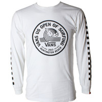 Shop US Open Lock Up Long Sleeve T Shirt by VANS (#VN-0VQ6) on Jack's Surfboards
