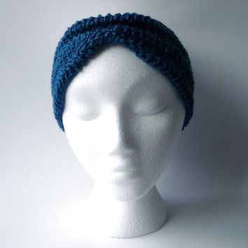 Hand Knit Headband Womens Turban Winter Headband Boho Headband Handknitted Headband Crochet Earwarmer Custom Colors Hand Knitted Warm