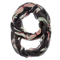 Dragonfly Black Infinity Scarf