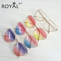 Vintage Women Sunglasses Metal Frame Cat eye Sun glasses Ombre Shades ss720