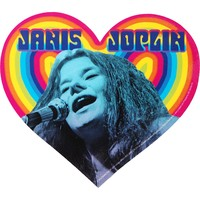 Janis Joplin Heart Embroidered Patch - Janis Joplin - J - Artists/Groups - Rockabilia