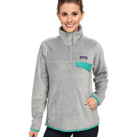 Patagonia Re-Tool Snap-T® Fleece Pullover Tailored Grey/Nickel X-Dye/Emerald - Zappos.com Free Shipping BOTH Ways