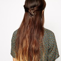 ASOS Moon Hair Brooch at asos.com