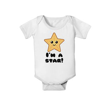 Cute Starfish - I am a Star Baby Romper Bodysuit by TooLoud