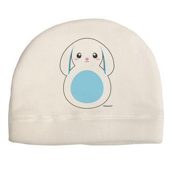 Cute Bunny with Floppy Ears - Blue Child Fleece Beanie Cap Hat by TooLoud
