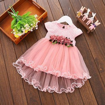 Princess Baby Girl Formal Dress Christening Baptism Wedding Party Gown 0-3Y USA