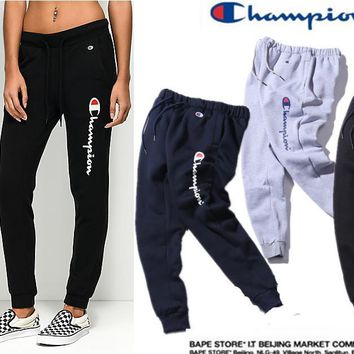 champion men and women print sports casual pants