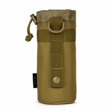 ONETOW Genuine small outdoor kettle kettle bag hanging sleeve waist tactics bottle bags  package attached  plug bottle Sports Running