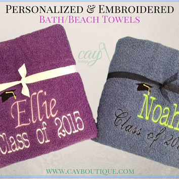 Personalized Towels Graduation Gifts