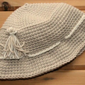 Luxury crochet baby beanie, baby sun hat, bucket hat, baby clothes, 6 -12m, bamboo oyster beige, hats, fun, unique, babies accessories, etsy