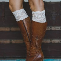 All Lace Boot Cuffs