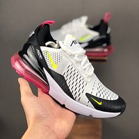 Nike Air Max 270 Highlighted White Volt-Black-Laser Fuchsia Running Shoes - Best Deal Online