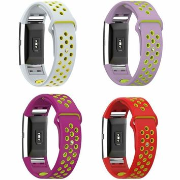 Silicone Rubber Band Strap Replacement Wristband Bracelet For Fitbit Charger 2