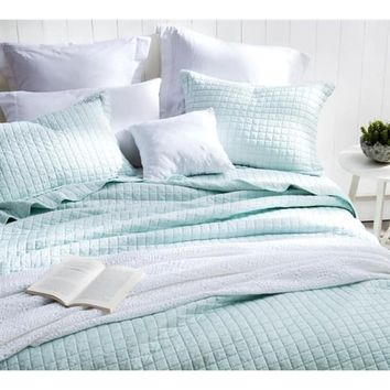 BYB Classic Supersoft Pre-Washed Cotton Quilt Set- Hint of Mint | Overstock.com Shopping - The Best Deals on Quilts