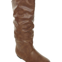 Vegan Leather Slouch Boot | Shop Shoes at Wet Seal