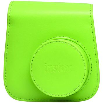 Fujifilm(R) 600018146 Instax(R) Mini 9 Groovy Case (Lime Green)