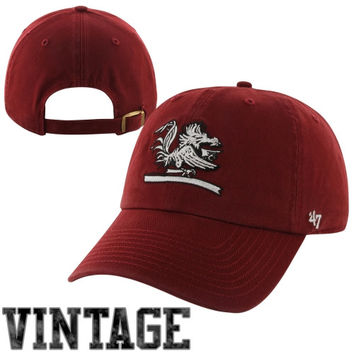 47 Brand South Carolina Gamecocks Vault Clean Up Adjustable Hat - Garnet