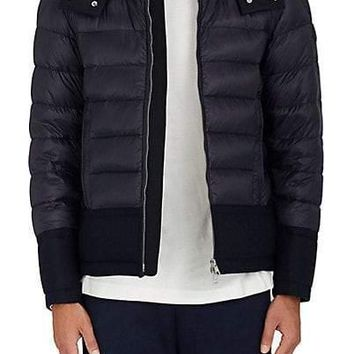 Moncler Wool Trimmed Down Quilted Coat