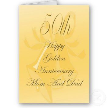 50th Wedding Anniversary Card For Mom And Dad from Zazzle.com