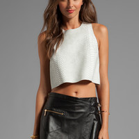 Shakuhachi Python Crop Top in White from REVOLVEclothing.com