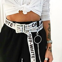 OFF-WHITE Tide brand classic men's and women's wild retro belt