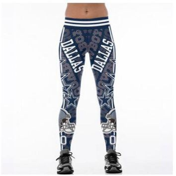 Football Team Dallas Cowboys 3D Printed Workout Leggings For Joggers Fitness Legging High Waist Elastic Gymnasium Leggins