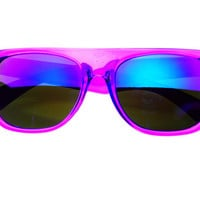 Mirror Lens Retro Party Flat Top Sunglasses Purple FT404 – FREYRS - Sunglasses at Affordable Prices