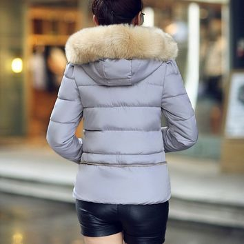 Fur Collar Cotton-padded Jacket