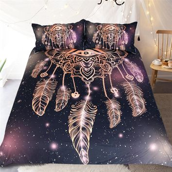 DREAM CATCHER STYLE DUVET COVER SET KING QUEEN FULL TWIN SIZE BEDDING SET