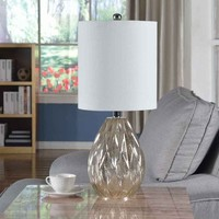 Creek Classics Diamond Glass 23.5-inch Table Lamp | Overstock.com Shopping - The Best Deals on Table Lamps