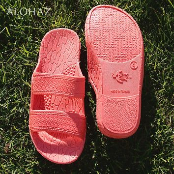 kids pink classic jandals® -  pali hawaii sandals