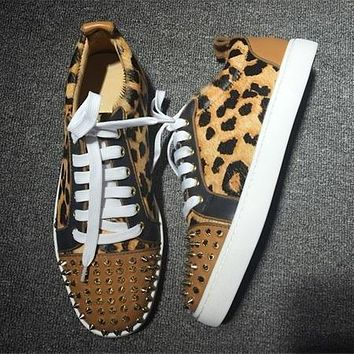 Christian Louboutin CL Low Style #2041 Sneakers Fashion Shoes Best Deal Online